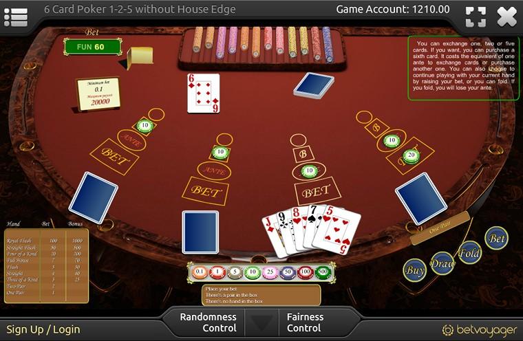 Six Card Poker